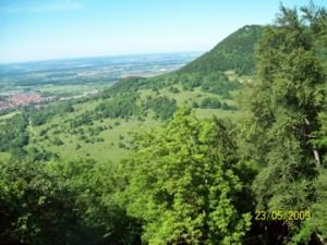 Blick von der Schwäbischen Alb Richtung Bissingen