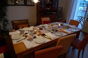 Eingedeckt für leckeres chinesisches Essen bei Petra