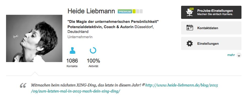 XING-Profil Heide Liebmann