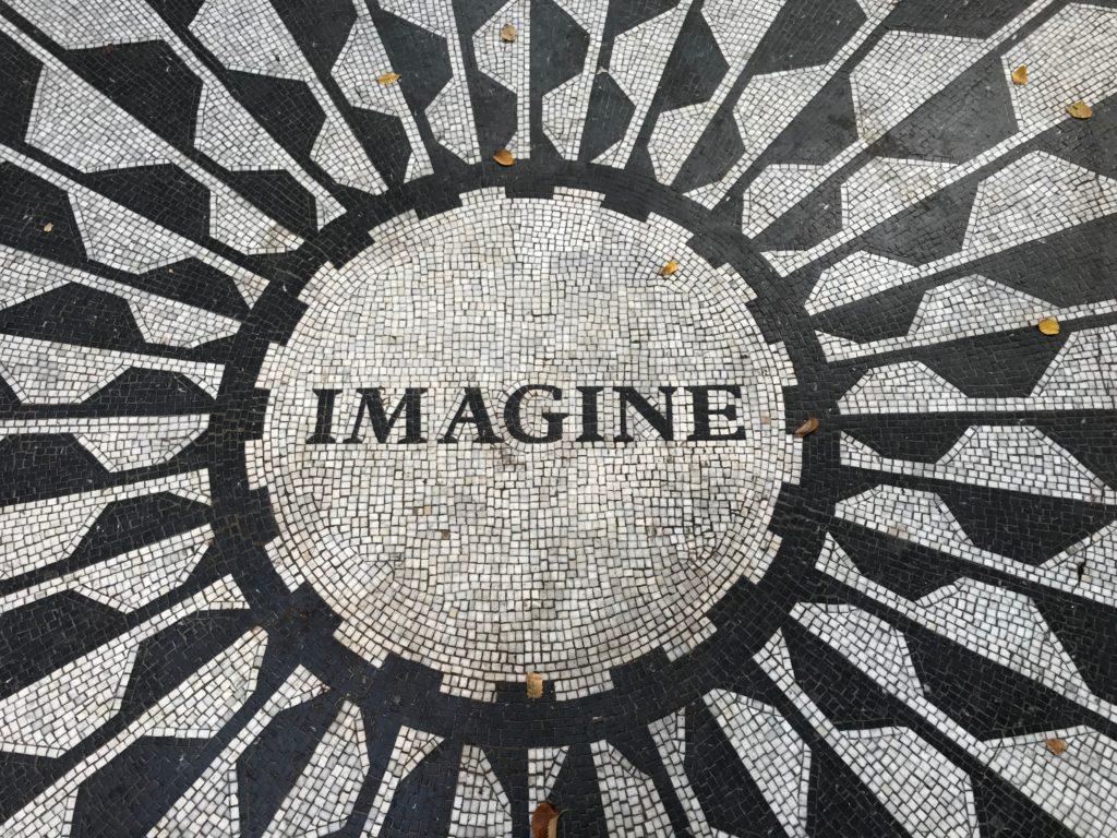 Mosaik mit Inschrift Imagine