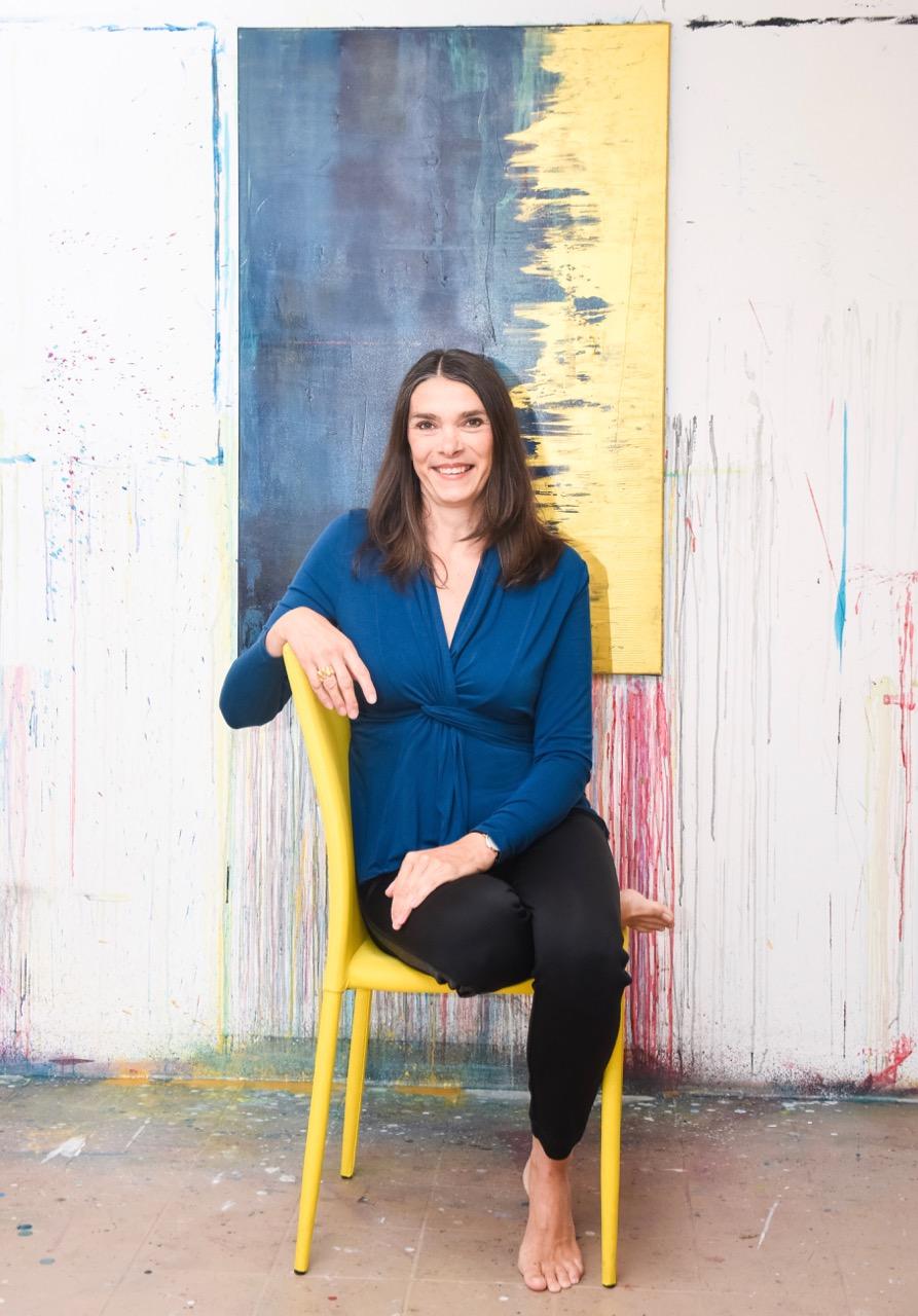 Helga Stein im Atelier 2018 - 1