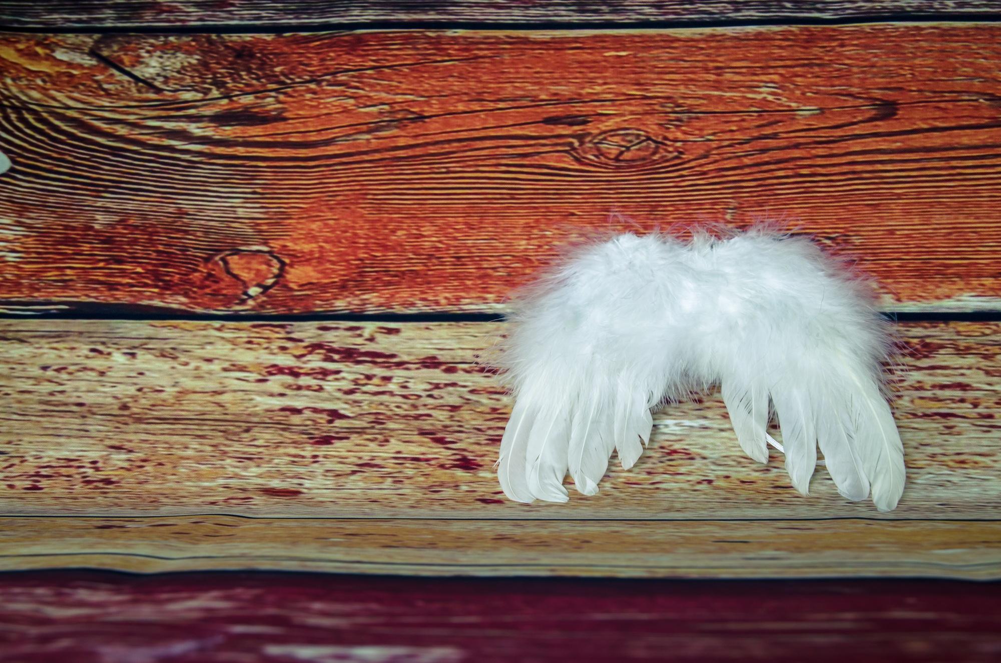 Engelsflügel auf Holzdielen